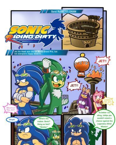 Sonic Riding Dirty- Furry
