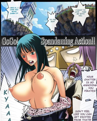 Konsoul One Piece GO GO SPANDAMING ACTION Full color High-res