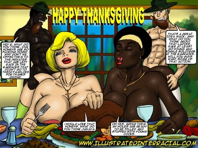 Holiday Pictures- illustrated interracial