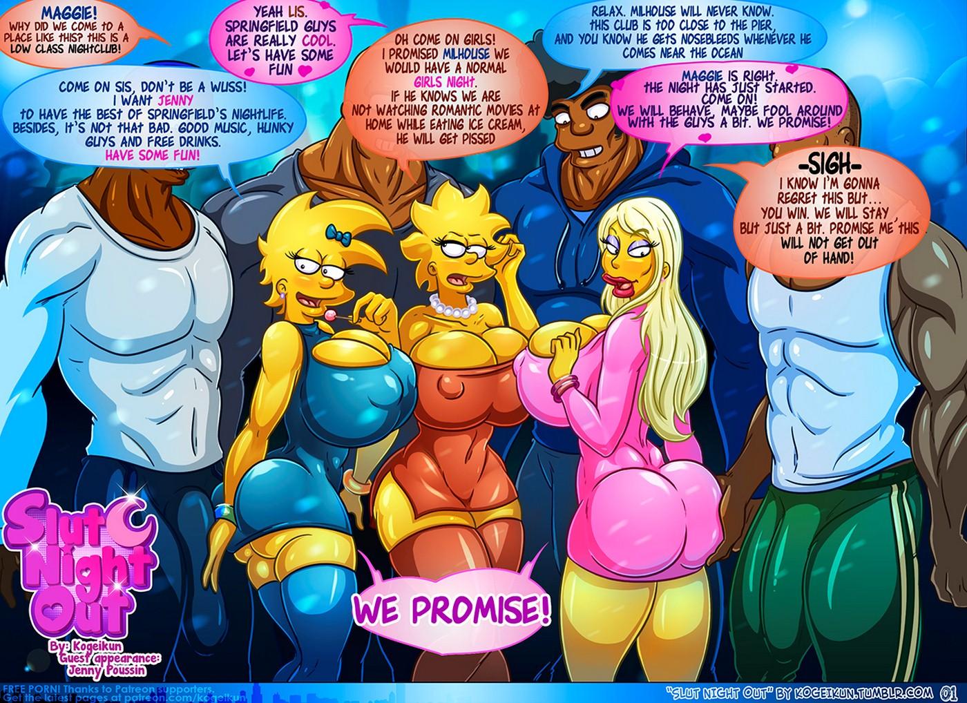 Slut Night Out - Simpsons [Kogeikun]