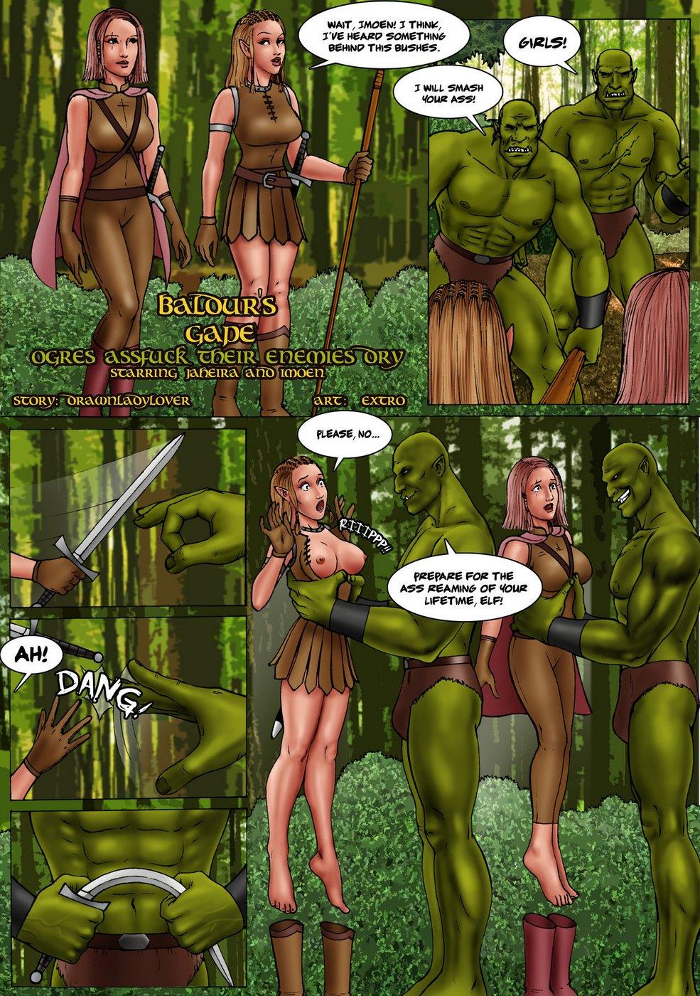 Baldur\'s Gape- Ogres assfuck their enemies dry best