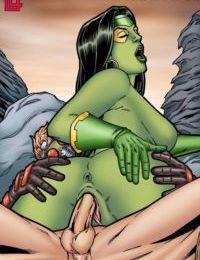 Leandro- Gamora Bounces On Star Lord's Hard Cock