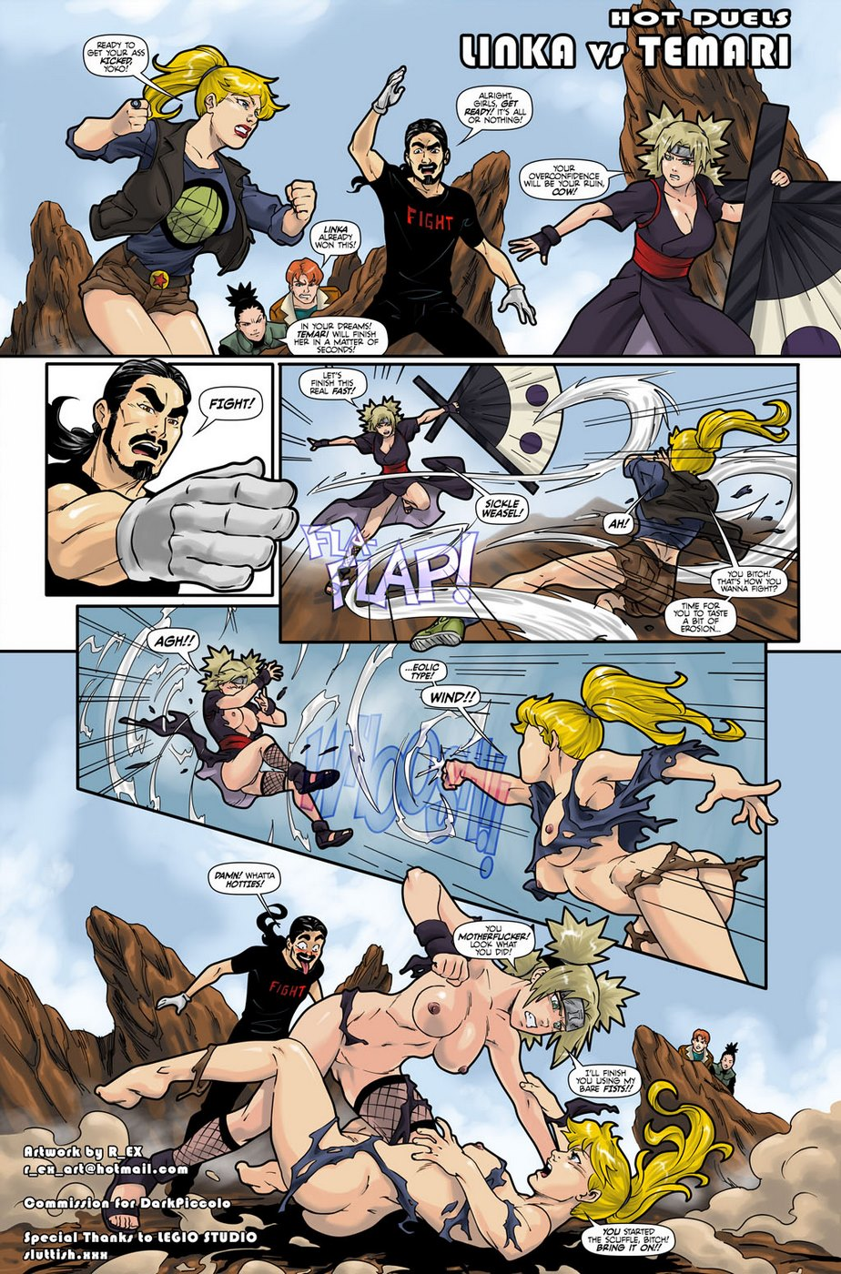 Hot Duels 1- Temari vs Linka (Naruto)