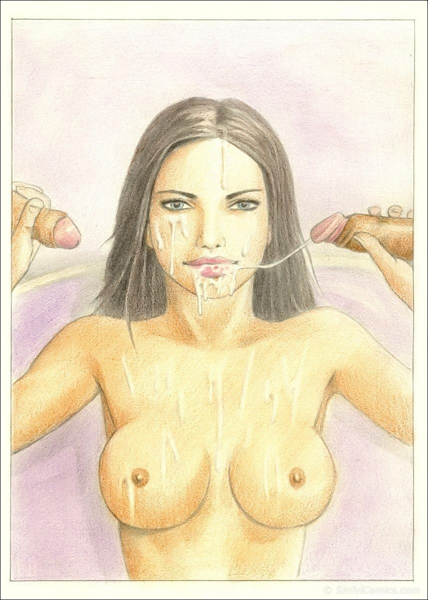 Adriana Lima- Sexy photo shoot, Sinful - part 2