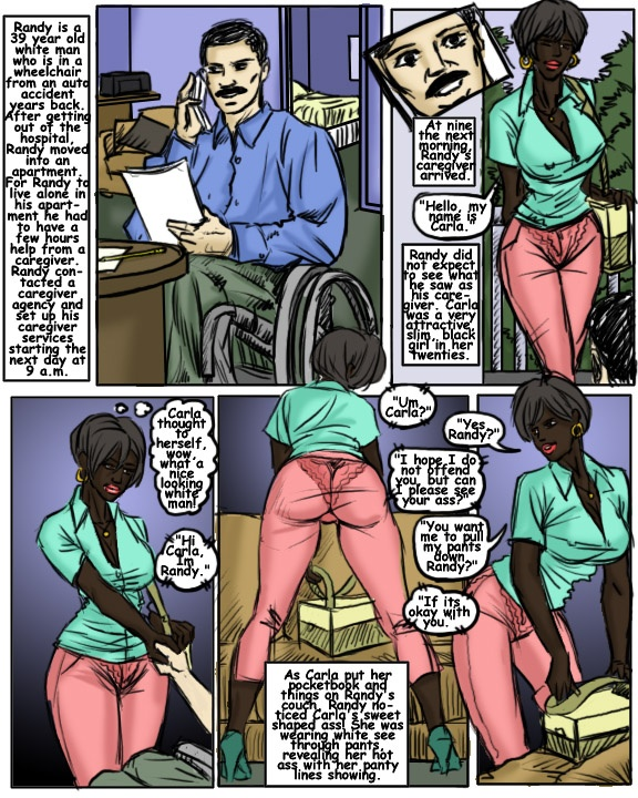 The Caregiver- illustrated interracial
