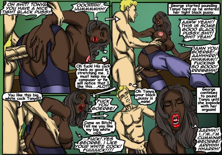 Black Bitch- illustrated interracial