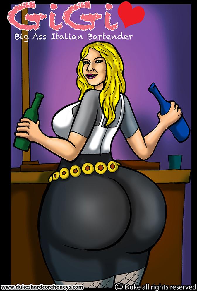 Gigi - Big Ass Italian Bartender 1