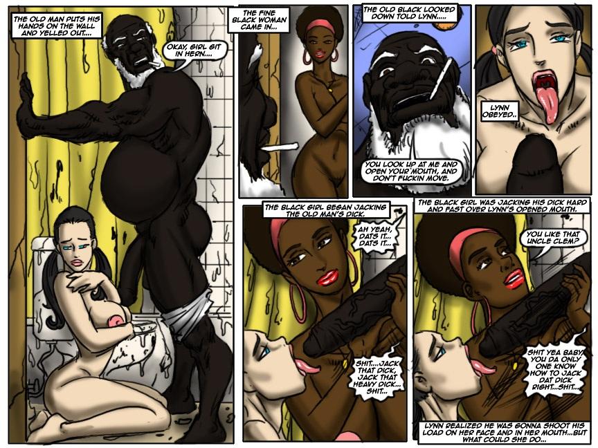 Cheerleader 2- illustrated interracial
