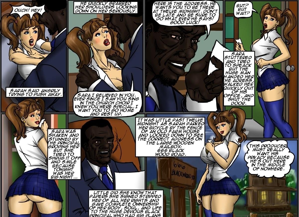 School Girl Sara- illustrated interracial