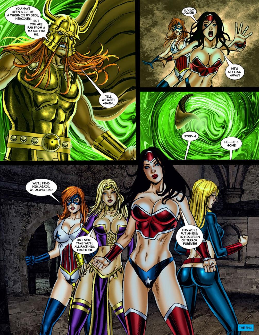 9 Superheroines VS Warlord 3 - part 2