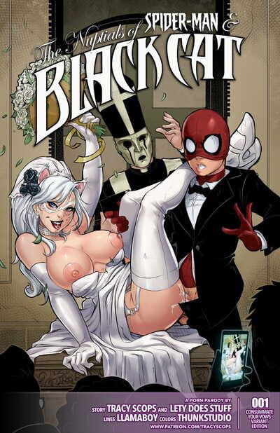 Tracy Scops Llamaboy The Nuptials of Spider-Man & Black Cat Spider-Man