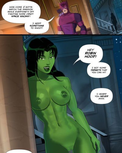 SunsetRiders7 - She Hulk and Hawkeye